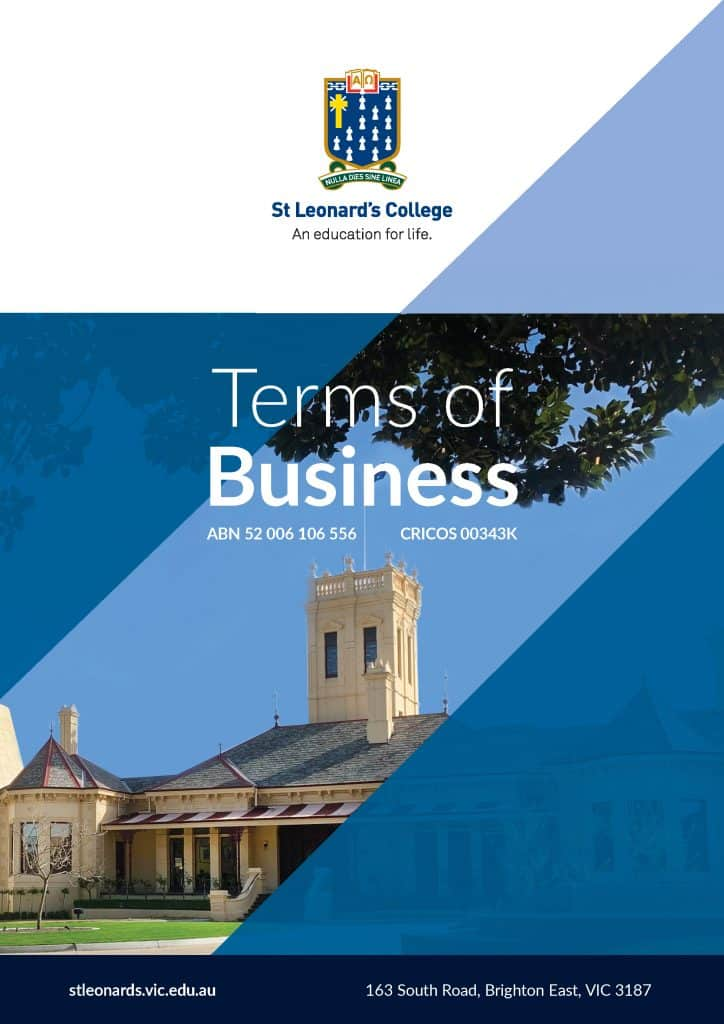 Terms of Business 2021